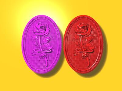 玫瑰花雕塑 2-3d打印模型