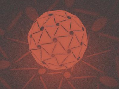 能透出图形光源的圆球灯罩,支持定制-3d打印模型