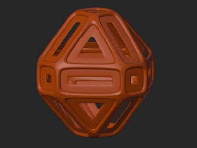 带外筋条的菱形-户外灯罩,可定制-3d打印模型