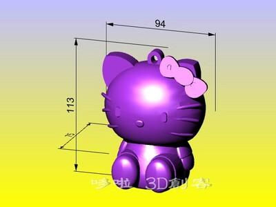凯蒂猫灯笼存钱罐 2-3d打印模型