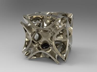 球 立方体 异型 异形 镂空 球 灯罩-3d打印模型
