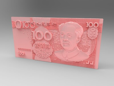 人民币100元-3d打印模型