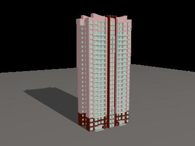 高层建筑-3d打印模型