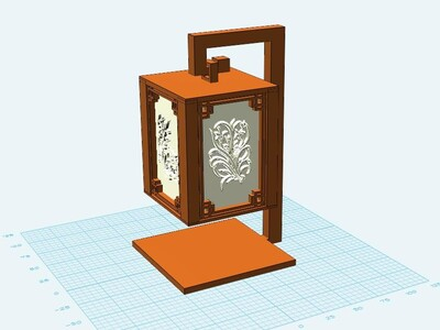 仿古台灯-3d打印模型