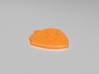 汪汪队毛毛狗牌-3d打印模型