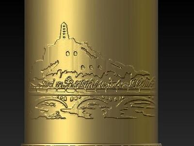 延安宝塔山笔筒-3d打印模型