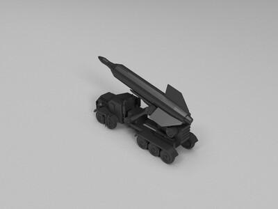 红色警戒2v3火箭-3d打印模型