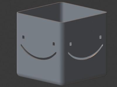 笑脸花盆,欢迎定制-3d打印模型