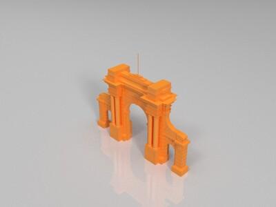 清华门-3d打印模型