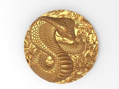 Snake  蛇 玉雕-3d打印模型