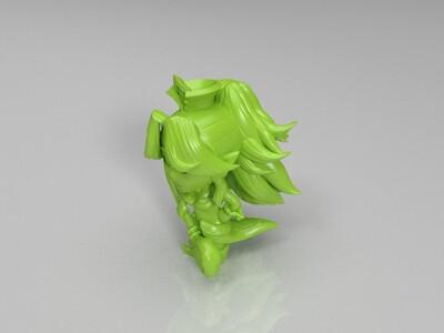 girl 手办-3d打印模型