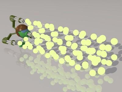 机枪豌豆射手(植物大战僵尸)-3d打印模型