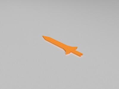 小剑(机关盒子的钥匙)-3d打印模型