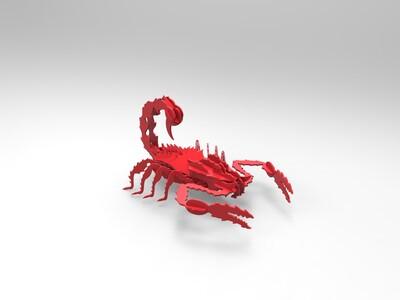 蝎子立体拼图(亦可)-3d打印模型