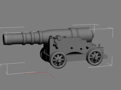 古炮 p1 原创-3d打印模型