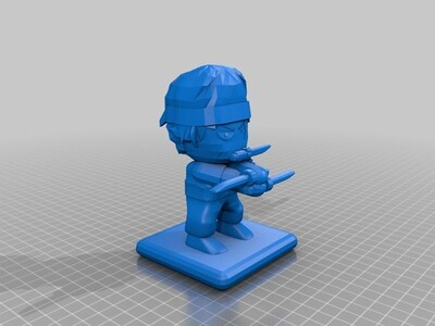 Q版索隆-3d打印模型