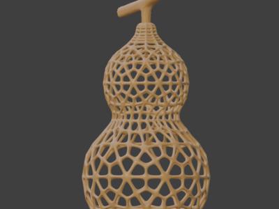 镂空葫芦模型,可做灯罩,可定制-3d打印模型