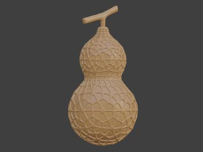 带镂空效果的葫芦模型,可做灯罩,可定制-3d打印模型