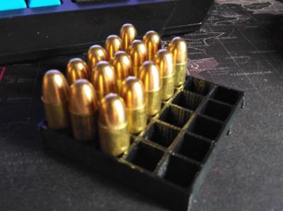 9毫米子弹收纳盒-3d打印模型