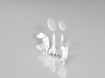 宇航员摆件-3d打印模型