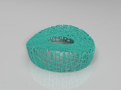 鸟巢框架-3d打印模型