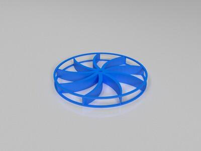 明轮船 桨叶轮-3d打印模型
