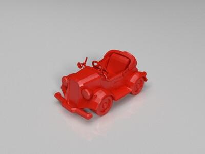 跑跑卡丁车-老爷车-3d打印模型