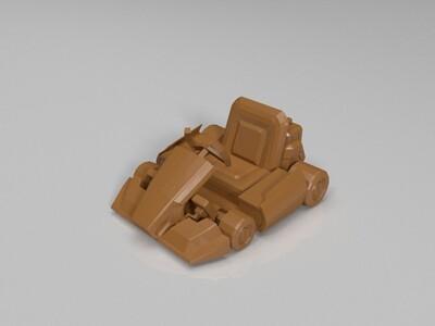 跑跑卡丁车-板车-3d打印模型
