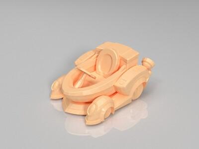跑跑卡丁车-马桶车-3d打印模型