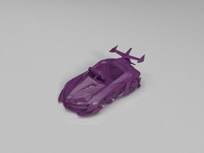 跑跑卡丁车-魔怪加速状态-3d打印模型