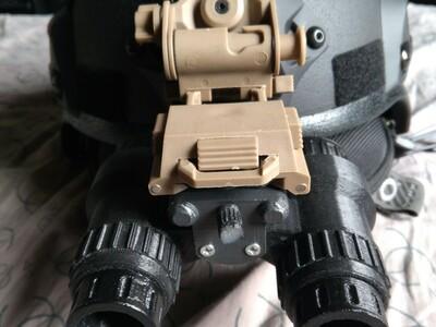 双筒夜视仪模型(可变单筒)-3d打印模型
