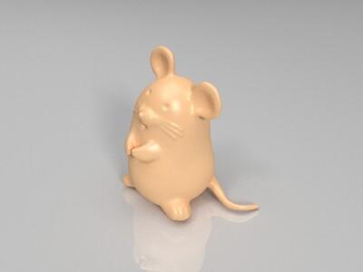 新十二生肖(鼠)-3d打印模型