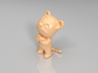 新十二生肖(虎)-3d打印模型
