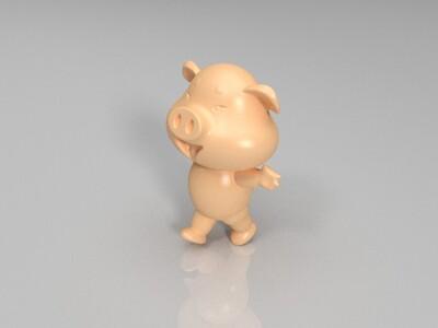 新十二生肖(猪)-3d打印模型