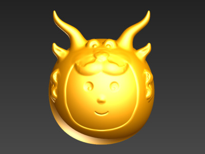 3D蛋系列(十二星座-摩羯)-3d打印模型