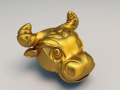牛头模型,不可商用-3d打印模型