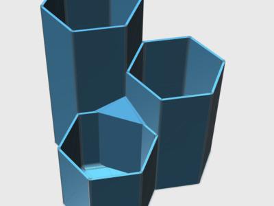 六角型简约笔筒-3d打印模型