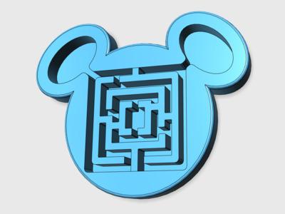 米奇立体迷宫-3d打印模型