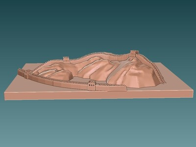 长城城墙   -3d打印模型