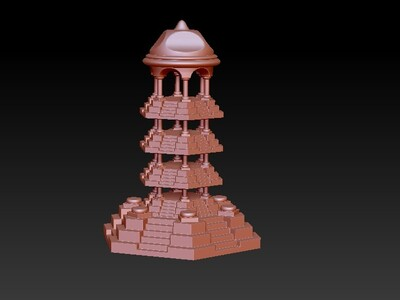 塔00  原创-3d打印模型