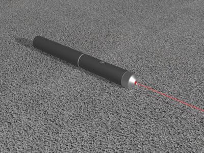 激光笔-3d打印模型
