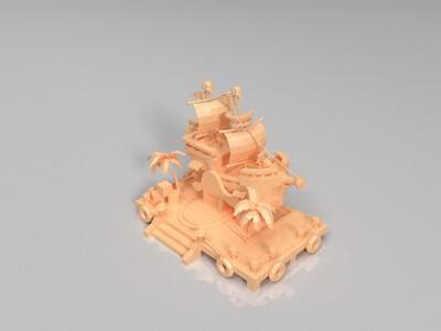 海盗船-3d打印模型