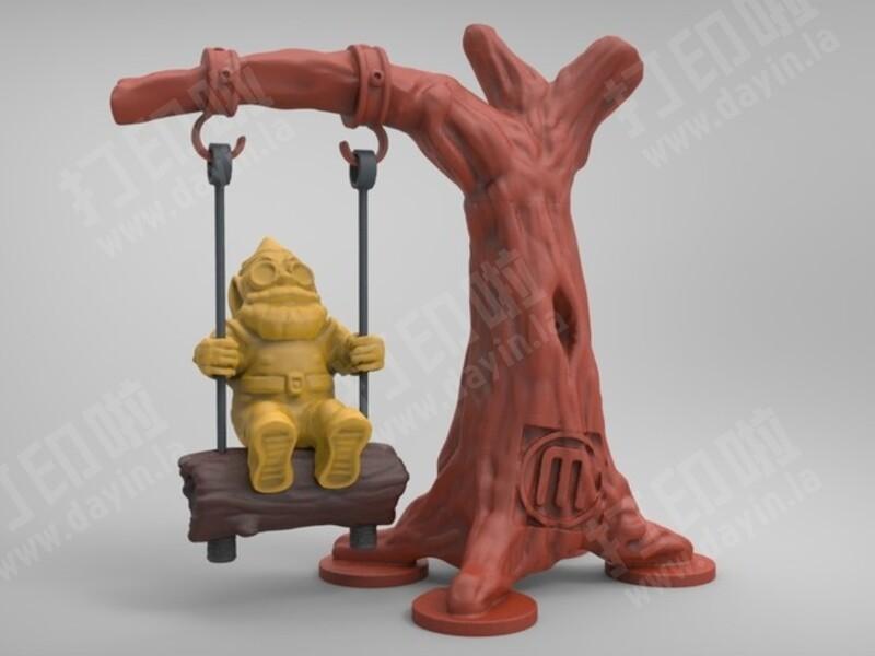 侏儒树摆动-3d打印模型