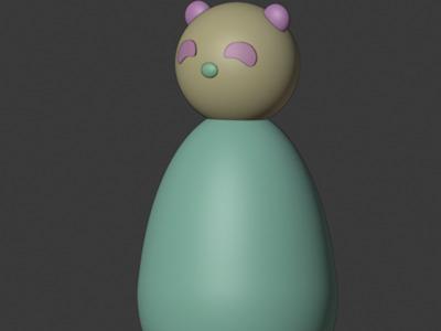 熊猫不倒翁,可定制-3d打印模型