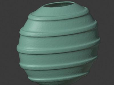 欧式水波纹花瓶摆件,可定制-3d打印模型