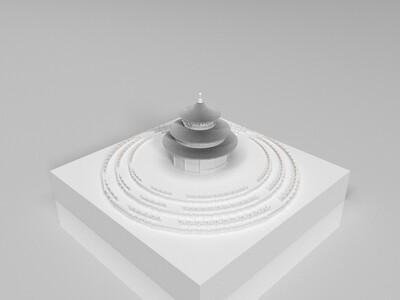 北京天坛-3d打印模型