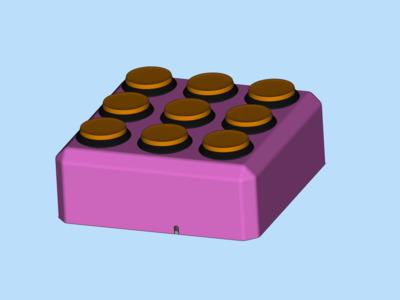 九宫机儿童教学玩具模型,支持定制-3d打印模型
