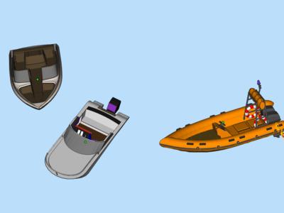 简易快艇模型-3d打印模型