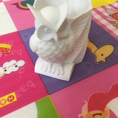猫头鹰笔筒-3d打印模型
