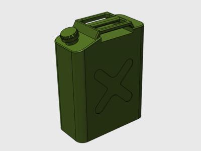 汽油桶-3d打印模型